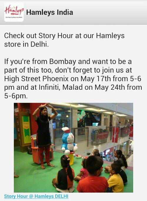 Stories being told to children at Hamleys