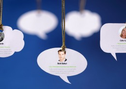 Speech bubbles with recommendations